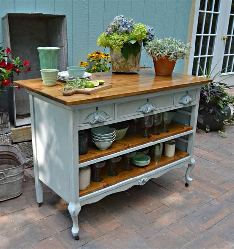 kitchen island antique heir and space antique dresser turned kitchen island