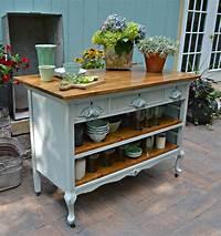 vintage kitchen island Heir and Space: Antique Dresser Turned Kitchen Island