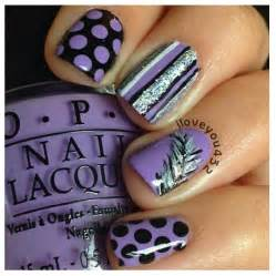 Purple black and silver nail designs nails