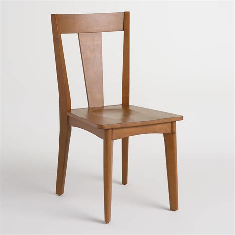 world dining room chairs brown wood weston mid century dining chairs set of 2 world market