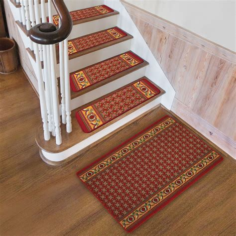 stair tread runners lowes best bullnose carpet stair treads installing carpet