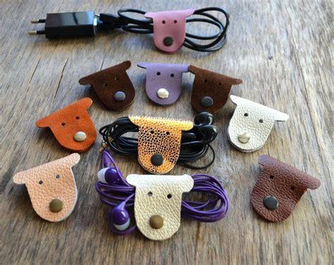 leather cord holder cat tech organizer earbud holder etsy diy christmas stocking holders