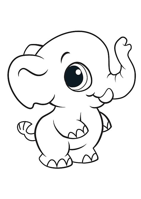 immagine elefante da colorare imagui