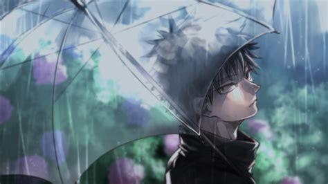 megumi fushiguro  rain  umbrella hd jujutsu kaisen