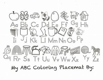 Abc Alphabet Coloring Printable Pages Placemat Chart