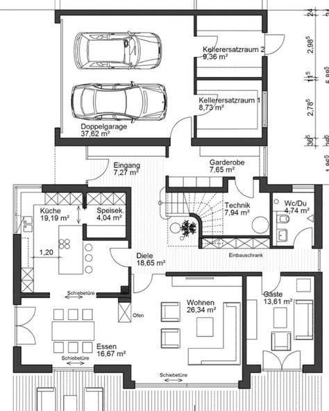 Grundriss Mit Doppelgarage by 41 Besten Haus Bauen Grundriss Mit Garage Bilder Auf