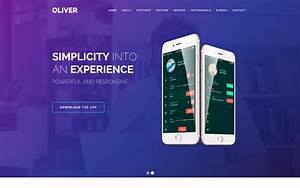 Download A Will Template Oliver Mobile Html5 Responsive Website Template