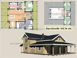 Plans gratuits de maisons bois contemporaines toit plat for Plan maison en bois gratuit