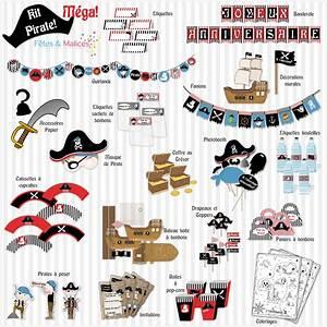 Deco Anniversaire Pirate : un anniversaire pirate id e d co kit imprimer f tes gateau pirate pinterest ~ Melissatoandfro.com Idées de Décoration