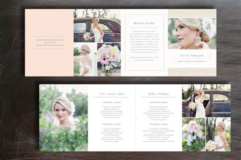 pricing guide photography brochure templates  creative
