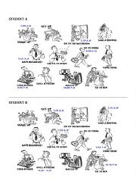 english worksheets daily routine speaking activity