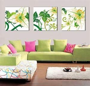 Wanddeko Ideen Wohnzimmer : wanddeko ideen mit floralen motiven ~ Markanthonyermac.com Haus und Dekorationen