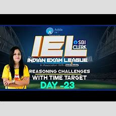 Sbi Po 2018  80 Day Study Plan Sbi Clerk Pre  Reasoning Challenges With Time Target  Day 23