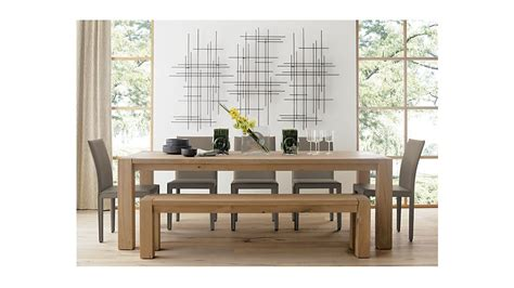 big sur dining table big sur natural 71 5 quot bench crate and barrel