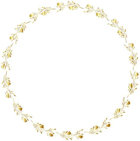 candy cane clip art gold round floral border transparent clip art image