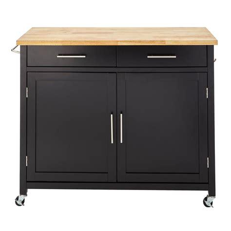 stylewell glenville black kitchen cart skcr ebb