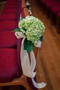 wedding pew bows chair and pew decorations