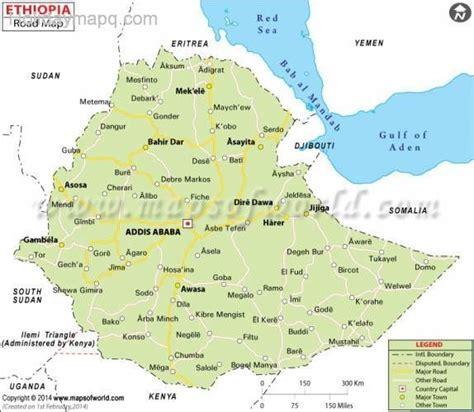 map  ethiopia holidaymapqcom