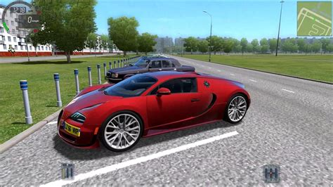 Driving A Bugatti by City Car Driving 1 4 1 Bugatti Veyron Ss Gameplay With