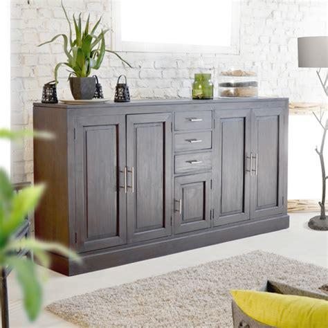 Living Room Sideboard by Tikamoon Solid Mahogany Wood Buffet Sideboard Storage