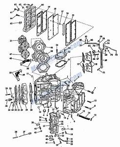 Johnson Powerhead Group Parts For 1965 75hp V4a