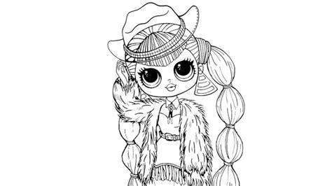 Kolorowanki do druku lol omg kosmik nova z serii winter disco w pięknym futrze i czapce. Coloring and Drawing: Lol Omg Lady Diva Coloring Pages