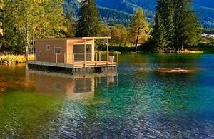 Maison Flottant Prix : aquaprezzo la cabane sur l 39 eau tout confort aquashell ~ Dode.kayakingforconservation.com Idées de Décoration