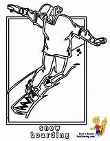 Coloring Snowboarder Hockey Winter Pages Snowboard Colouring Printable Sport Cold Sports Yescoloring Boys Bone sketch template