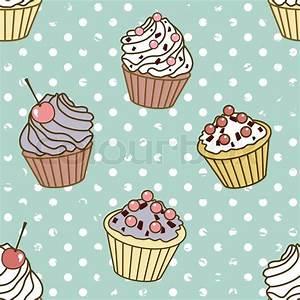 Vintage, cupcake, background | Stock Vector | Colourbox