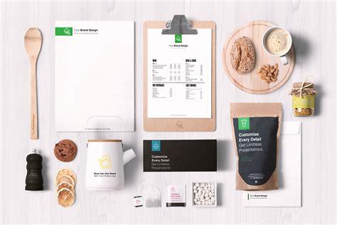 premium cuisines free premium food packaging branding mockup psd