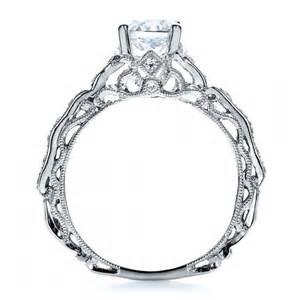 filigree wedding rings filigree engagement ring vanna k 100106