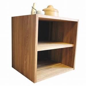 Cube De Rangement : cube de rangement avec tag re en bois de ch ne massif huil ~ Farleysfitness.com Idées de Décoration