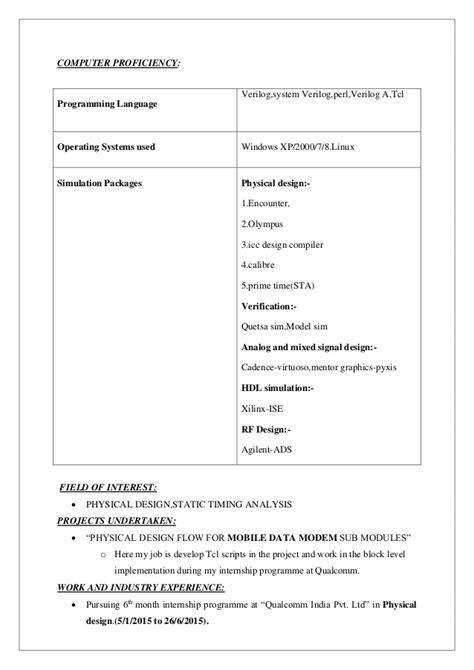 Resume For Field by Purushotham Resume 9092082850
