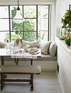 chris barrett white rustic modern window seat banquette With window bench seat for a sweet living room