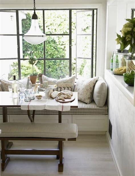 Chris Barrett {white rustic modern window seat / banquette