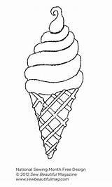 Ice Cream Cone Coloring Colorear Eis Draw Sew Daily Mandalas Malvorlagen Alimentos Gelados Sorvete Sorvetes Desenho Festa Ausmalbilder Margarita Discovered sketch template