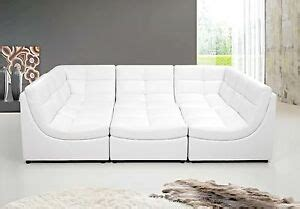 White Leather Sofa Ebay by White Finish Bonded Leather 6pc Modular Sectional Sofa