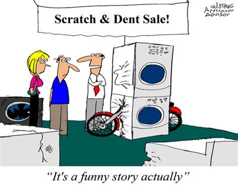 Scratch And Dent Cartoon  Appliance Advisor
