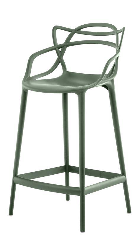 chaise master starck chaise de bar masters h 65 cm polypropylène vert sauge