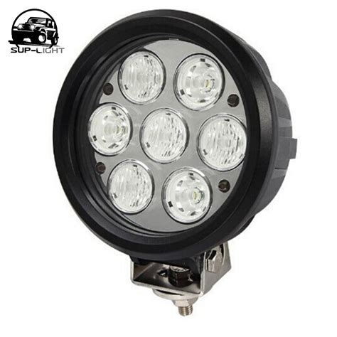 2pcs 6 Inch 70w Round Led Work Light For Driving L Off