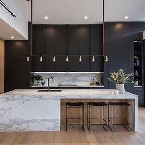 35, Fabulous, Black, And, White, Wood, Kitchen, Design, Ideas