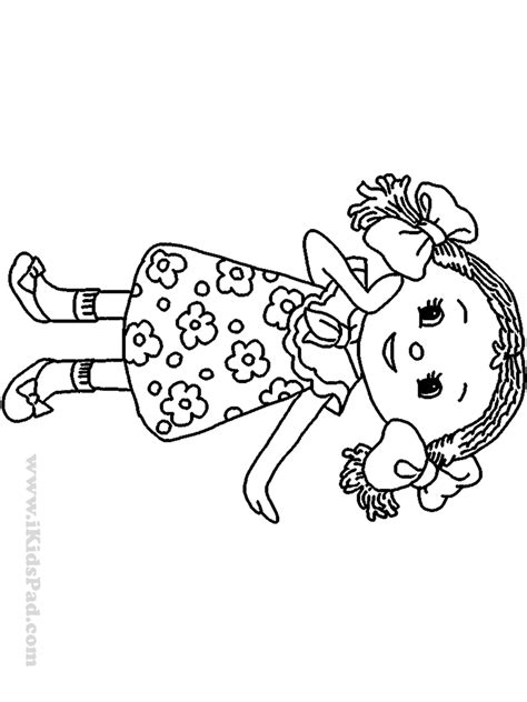 doll coloring pages    print