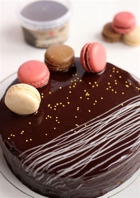 mirror glaze macaron cake  cake decor