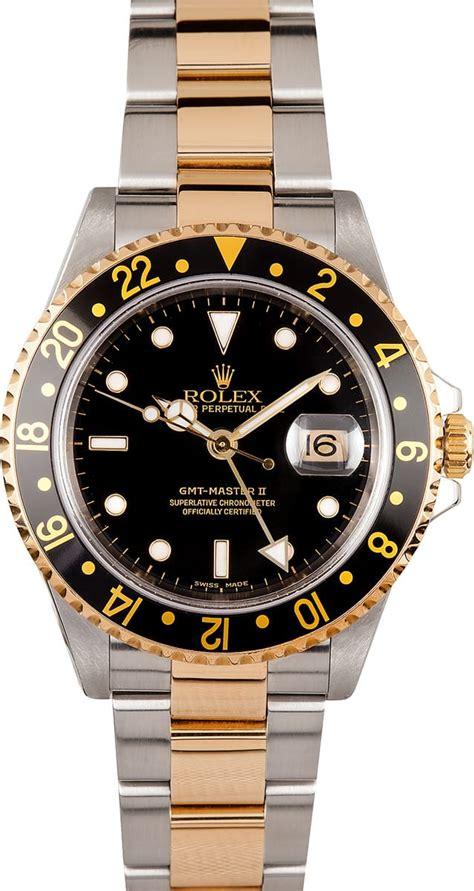 Rolex GMT Master II Black Dial 16713 - Save 47%