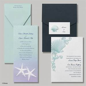 Under the sea ocean beach destination wedding for Disney ariel wedding invitations