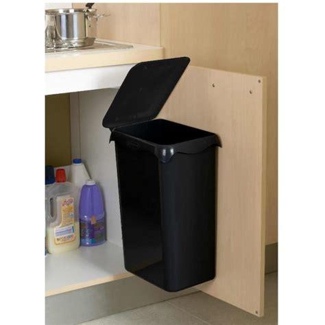 poubelle cuisine porte poubelle de placard portasac 23 l noir achat vente