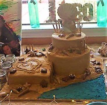 ideas  beach themed cakes  pinterest
