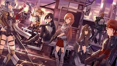 Sword Wallpapers Anime Ggo Sao Gun Kirito