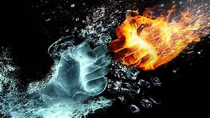 Ice Heat 4k Wallpapers Fire Cold Backgrounds