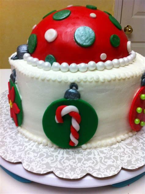 christmas ornament cake cakecentral com